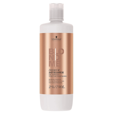 Schwarzkopf Blond Me Premium Care lift 9+ 2% 7 Vol. Loção Oxidante 1.000ml