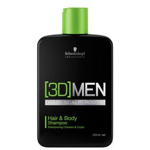Schwarzkopf 3D Men Cabelo e Corpo Shampoo 250ml