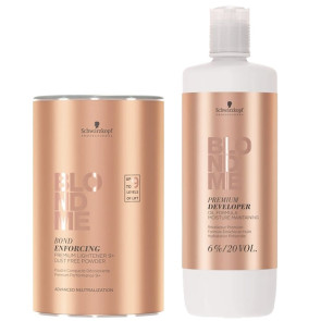 Blond Me Premium Combo Lift 9+ Pó Descolorante 450g + Loção 6% 20 Vol. 1.000ml