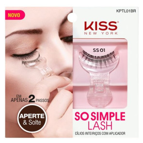 Kiss New York So Simple Lash - Cílios Postiços Inteiriços Com Aplicador 01