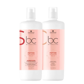 Schwarzkopf Bonacure Peptide Repair Rescue Deep - Kit 2 Produtos (sh+cond.) 1.000ml